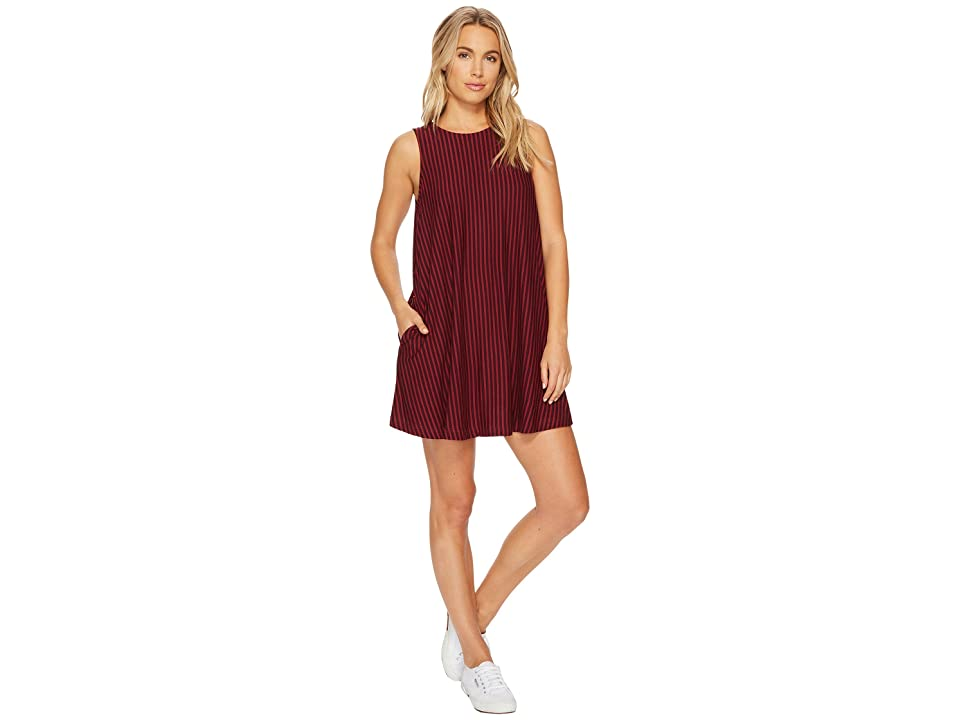 RVCA Tempted Stripe Dress (Winetasting) Women
