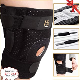 Hinged Knee Brace Plus Size – Newly Engineered Knee Braces with Flexibility,  Extra Supportive,  Non-Slip and Non Bulky - Vie Vibrante