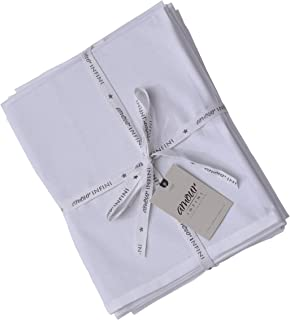 AMOUR INFINI Flour Sack Towels | Multi-use Kitchen Towels, Dish Towels, Cloth Napkins |100% Ring Spun Cotton | Highly Absorbent Tea Towels for Embroidery | 6 Pack | 33 x 38 Inch | White