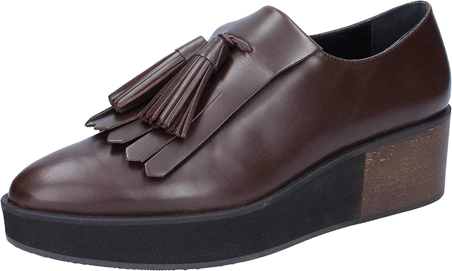 PALOMA BARCELO Loafers-shoes Womens Leather Brown
