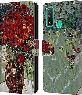 Head Case Designs Licenciado Oficialmente Masters Collection Marguerites en Coquelicot Pinturas 1 Carcasa de Cuero Tipo Li...