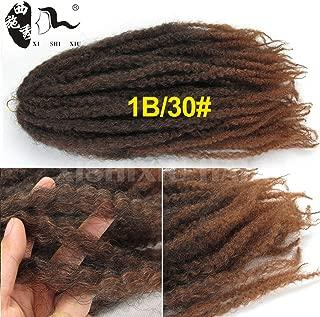 XI SHI XIU Afro Kinky Twist Hair Crochet Braids Marley Braid Hair 18inch Senegalese Curly Crochet Synthetic Braiding Hair