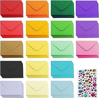 Winlyn 180 Pcs 18 Rainbow Colors #17 Mini Envelopes Bulk Blank Tiny Envelopes Small Gift Cards Notes Envelopes Coin Envelo...