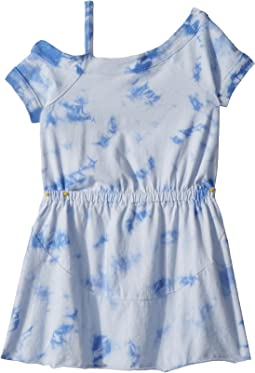 One Shoulder Tie-Dye Dress (Little Kids)