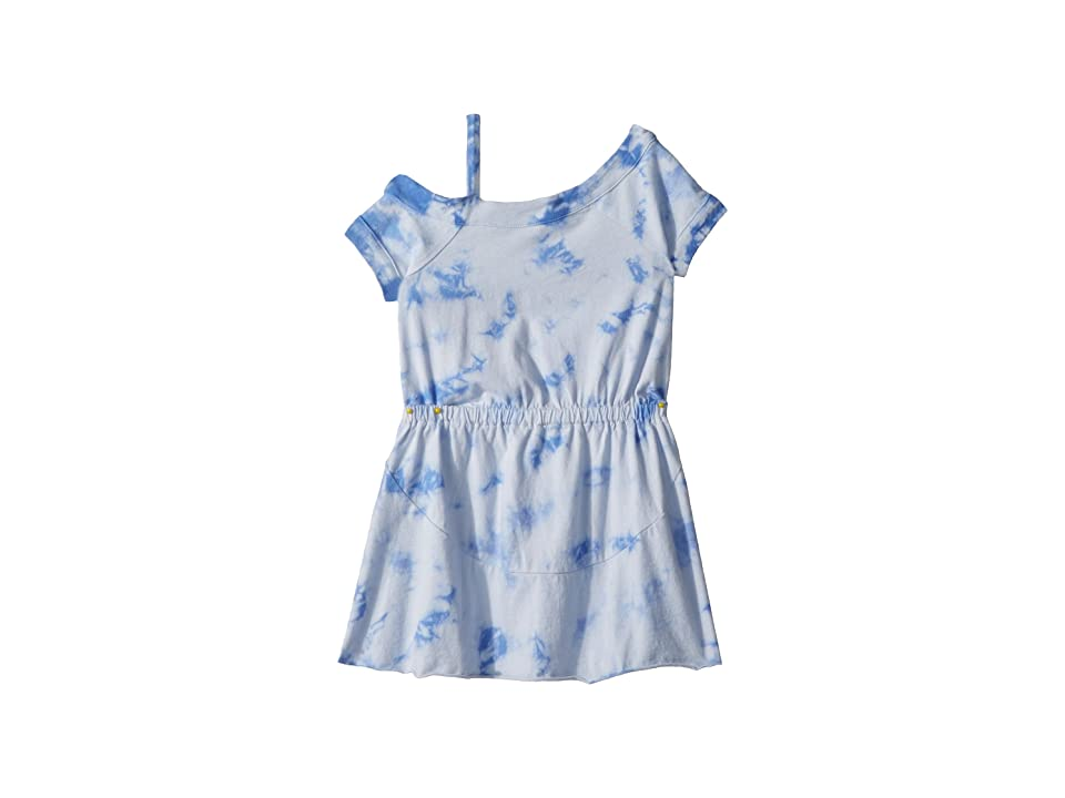 Splendid Littles One Shoulder Tie-Dye Dress (Little Kids) (Hydrangea) Girl
