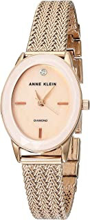 Anne Klein AK3498PMRG Reloj Anne Klein Material Metal Brazalete Color Oro Rosado for Mujer, Rosa, Mujer Estándar