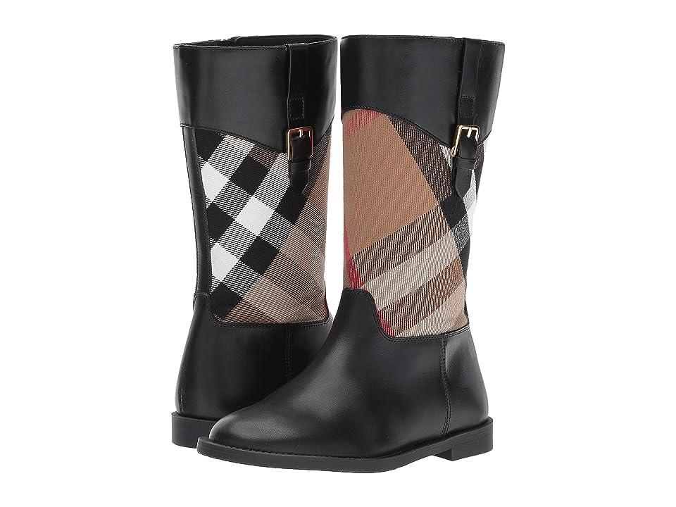 Burberry Kids Mini Copse Boots (Toddler/Little Kid) (Lacquer Black) Girls Shoes