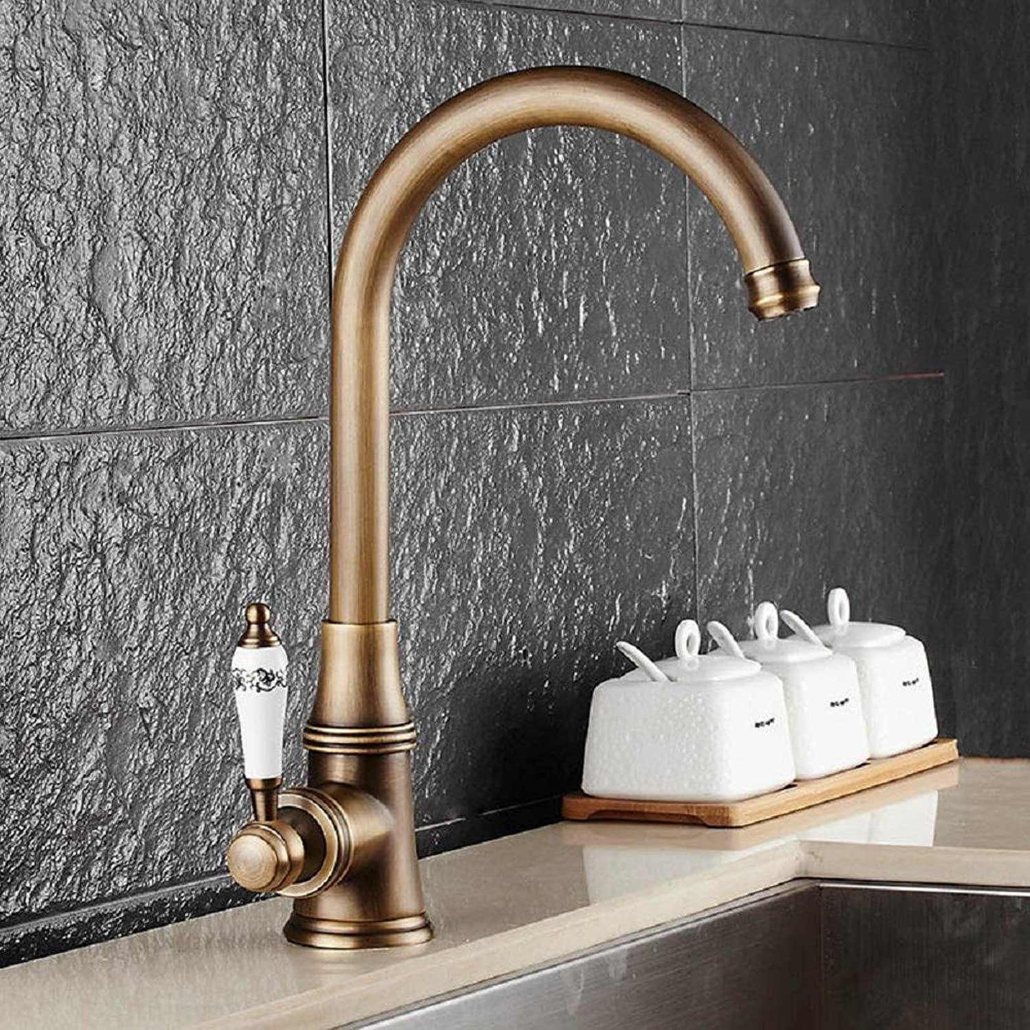 JYHJ Antique copper faucet single-hole single hot and cold can be redated