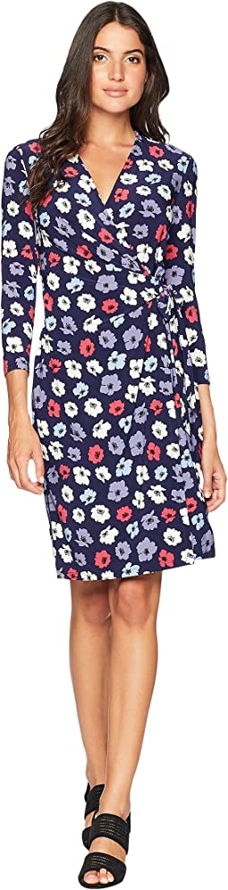 Classic Wrap Dress - Giverny Printed Ity