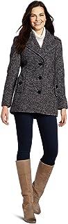 Women's Single Breasted Wool Peacoat Jacket