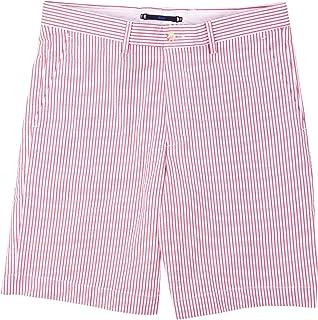 Haspel Seersucker Shorts - Comus Red