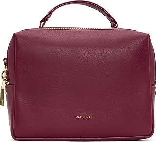 Matt & Nat Vegan Handbags, Liv Vintage Crossbody, Garnet - 100% Animal & Cruelty Free, Full 1 Year Warranty, 100% Recycled Linings, Eco-Friendly