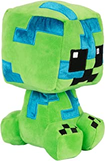 JINX Minecraft Crafter Charged Creeper Plush Stuffed Toy, Green & Blue, 8.75