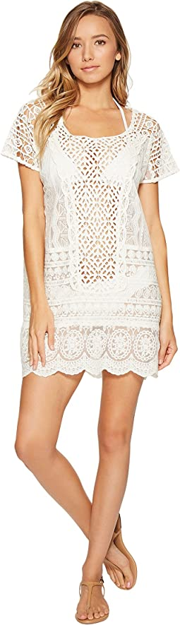 Crocheted Lace Tunic Cover-Up