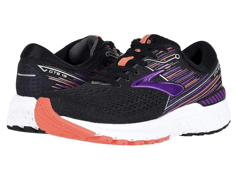 Brooks Adrenaline GTS 19 (Black/Purple/Coral) Women