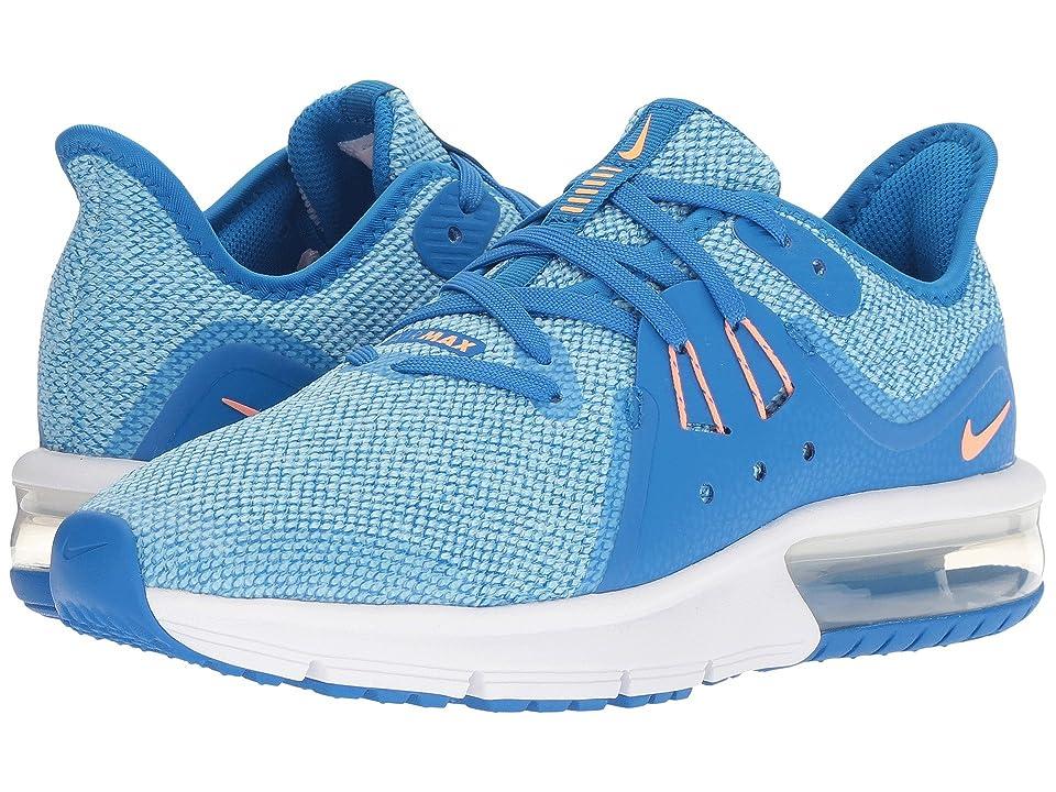 Nike Kids Air Max Sequent 3 (Big Kid) (Cobalt Blaze/Orange Pulse/Blue Chill) Girls Shoes