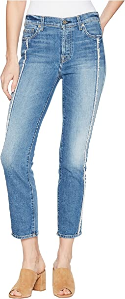 7 For All Mankind Edie w/ Frayed Seam in Canyon Ranch