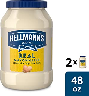Hellmann's Mayonnaise For Delicious Sandwiches Real Rich In Omega 3-Ala 48 Oz Pack Of 2