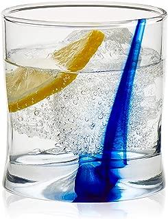 Libbey Blue Ribbon Impressions Rocks Glasses, 8-ounce, Set of 8