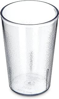 Carlisle 5526-8107 BPA Free Plastic Stackable Tumbler, 8 oz., Clear (Pack of 6)