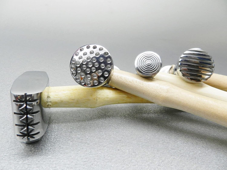 Japan Maker New Texture Tulsa Mall Hammer Texturing Metal 4 8 Hammers Jewelry Patterns Desi