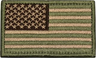 Tactical Morale Patch USA Embroidered American Flag Patch Hook and Loop Fastener Backing Emblem (Multitan)