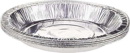 """RedMan 61770 Round Aluminium Foil Pan, 10"""" (Pack of 5) Silver"""