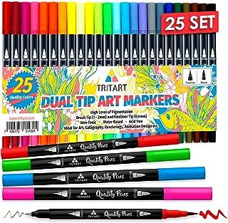 Dual Brush Pens Pinselstifte Set I 25 Filzstifte Dicke & Dünne Seite I Universal..
