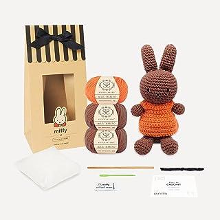 Stitch & Story Miffy Friends Melanie Amigurumi-Intermediate Crochet Kit, Chestnut Brown & Dutch Orange, One Size