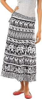 Attire Fashion Women's Cotton Jaipuri Print Wrap-Around Skirt