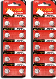 AG5 393A LR754 SR48 Button Cell Batteries [20-Pack]