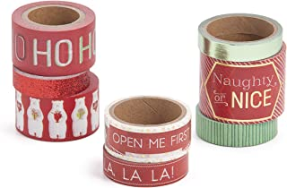 Martha Stewart 30068350 Washi Tape-Christmas Cheer, Assorted