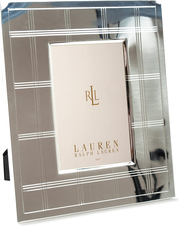 Lauren Ralph Lauren Fenimore Pattern Design 5  X 7  Silver color Picture Frame
