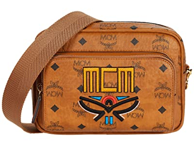 MCM Klassik Tribal Laurel Crossbody Small (Cognac) Handbags
