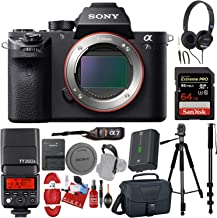 Sony Alpha a7S II Mirrorless Digital Camera (Body Only) + 64GB Memory Card + PRO TTL Flash Speedlite + Cleaning Kit + Carrying Case Bundle
