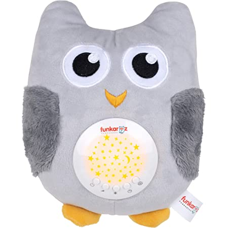 Cuddly Nursery Baby Owl Stuffed Animal Toy for Traveling Baby Sleep Soother Sound Machines Portable White Noise Sound Machine with Night Light Sleeping Baby Carriage