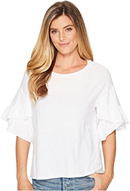 TWO by Vince Camuto - Drop Shoulder Tiered Ruffle Sleeve Top