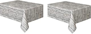 Rustic Wood Plastic Tablecloth, 108