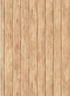 York Wallcoverings Best Of Country FK3899 Bead Board Wallpaper, Light Brown