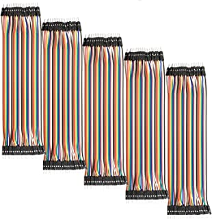 AZDelivery 5 x Jumper Wire Kabel 40 STK. je 20 cm M2M Male to Male kompatibel mit Arduino und Raspberry Pi Breadboard