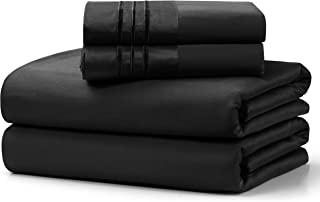 100% Cotton Bed Sheet Set,400 Thread Count Soft & Smooth Long Staple Combed Cotton from Pakistan ,14-Inch Deep Pocket Hote...