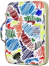 YOUSHARES 96 Slots Colored Pencil Case, Large Capacity Pencil Holder Pen Organizer Bag with Zipper for Prismacolor Watercolor Coloring Pencils, Gel Pens for Student & Artist (Phantom)
