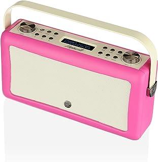 VQ Hepburn Mk II DAB+ Digital Radio with FM, Bluetooth & Alarm Clock, Hot Pink, (VQ-HEPMKII-PK/AUS)