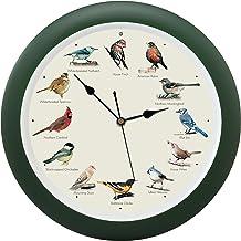 Mark Feldstein and Associates Original Singing Bird Wall Clock, 13 Inch