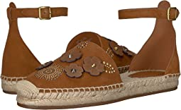 COACH Astor Ankle Strap Espadrille,Saddle
