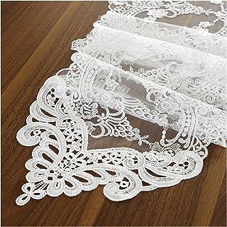 SRXSMGS Bordslöpare Modern Lace Matbord Bordslöpare, Kan användas för heminredning Broderi Vit Dukduk Bröllop Bankettdekor...