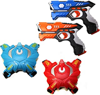 Wonderstar Toys - Laser Tag Blasters - 2 Blasters and Two Vests Set