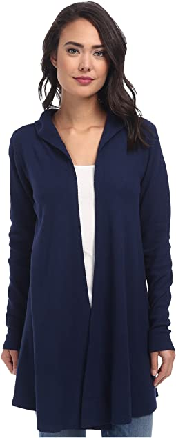 Allen Allen Hooded Open Cardigan