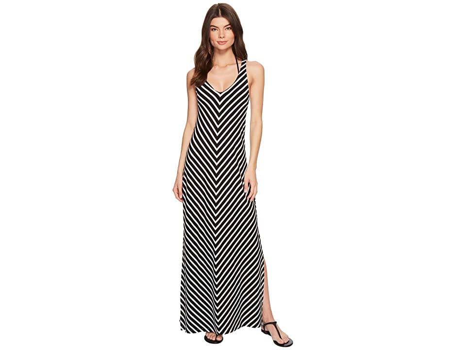 Tommy Bahama Breton Stripe Racerback Maxi Dress Cover-Up (Black/White) Women