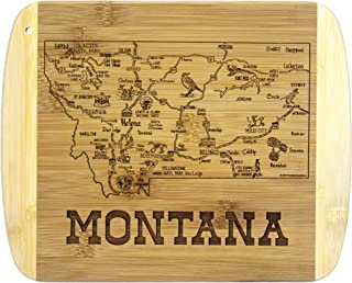 Totally Bamboo A Slice of Life Montana Bamboo Serving and Cutting Board